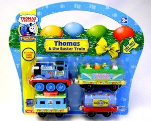 Thomas & Friends Take Along EXCLUSIVE Thomas & the Easter Train Die-Cast Metal Set w/Engine, Chick Car, Tanker, & Caboose by Learning Curve - Take Along Diecast Metal