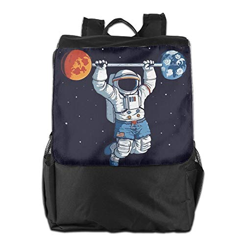 Astronauts On The International Space Station Exercise Unisex Casual Hiking Bags by HIFUN