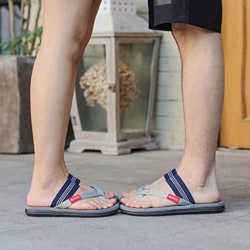 Naladoo Men Women Beach Flip Flops Flat Sandals Summer Outdoor Slip-On Slippers by Naladoo Men's Shoes (Image #6)