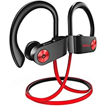 Kalinco Bluetooth Headphones,Superior Sports in-Ear Earphones w/MIC Richer Bass HiFi Stereo,IPX7 Waterproof HD Stereo 7-9 Hrs Playback Noise Canceling Headsets for Workout, Gym Running.