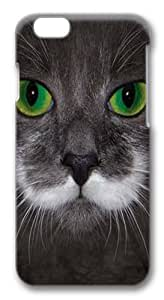 Big Face Hamilton The Hipster Cat Custom iphone 6 plus 5.5 inch Case Cover Polycarbonate 3D