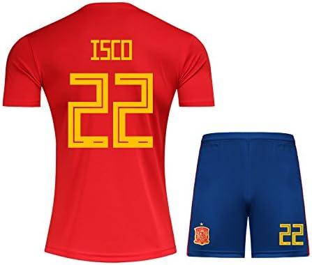 mqtwer Camiseta De La Bola 2018, No. 22, España 7, S, No. 22 En ...