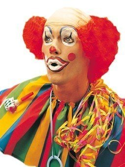Bald Clown wig with red hair  Amazon.co.uk  Toys   Games 99824cc14585