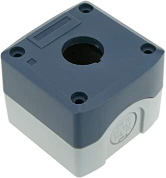 BeMatik - Caja de control de dispositivos eléctricos para 1 pulsador o interruptor de 22 mm gris: Amazon.es: Electrónica