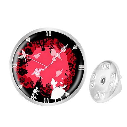 Custom Lapel Pin Brooches Cupid Gears Clock Banquet Badge Pins Trendy Accessory Jacket T-Shirt Bag Hat Shoe ()