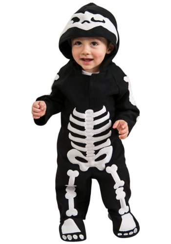 Baby Donkey Halloween Costume (Romper Costume, Skeleton - Toddler (U.S.A. Size 2-4) For 1-2)