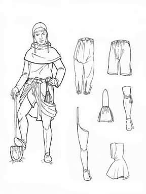 15th Century Costumes (Men's and Women's Accessories of Medieval Romanesque Period - 11th - 15th Centuries Pattern)