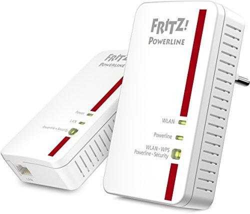 AVM FRITZ! Powerline 1240E / 1000E  WLAN  Set (1.200 MBit/s, WLAN-Access Point, ideal für Media-Streaming oder NAS-Anbindungen)