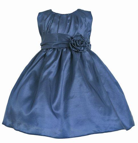 Navy Blue Taffeta Dress - 3