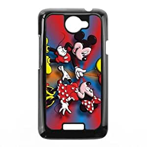 Disney Mickey Mouse Minnie Mouse HTC One X Cell Phone Case Black yyfabc-598549