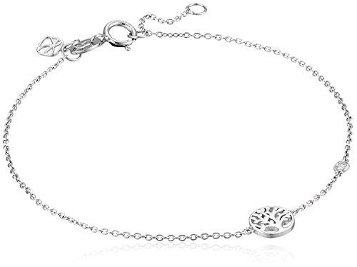 Syd by SE Tree of Life Bracelet with Diamond Bezel