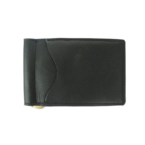 Piel Leather Bi-Fold Money Clip, Black, One Size