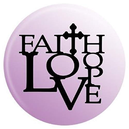 My Prime Gifts Snap Jewelry Faith Hope & Love Painted Enamel Standard Size Snap 18-20mm By -