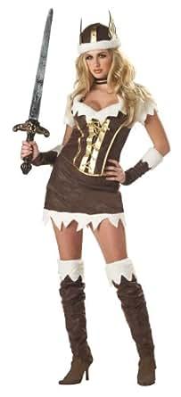 Deluxe Sexy Viking Vixen Costume - Womens 10-12