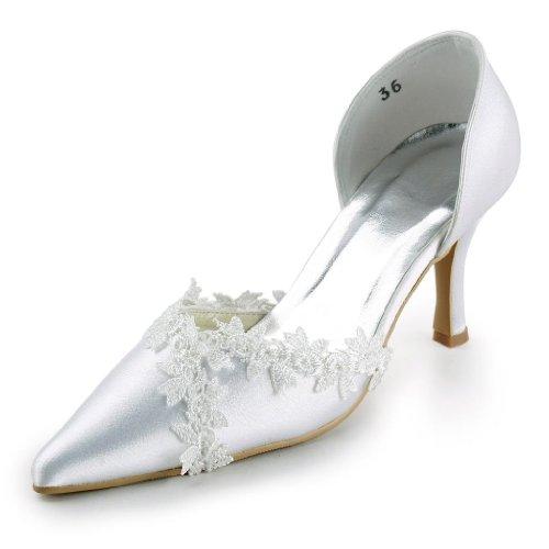 Mariée Escarpins Chaussures Blanc De A318 Wedding Jia Mariage Femme Pour qIPp7R