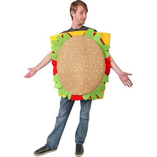 Adult's Hamburger Halloween Costume (Size: Standard 44)]()
