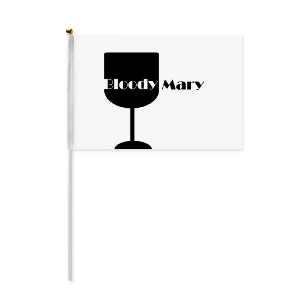 Black Mary Cocktail with its cup Hand Waving Flag 8x5 inch Polyester Sport Event Procession Parade 4pcs