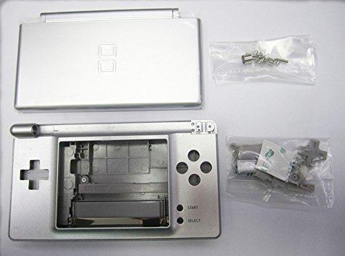 Carcasa de la carcasa de plata conjunto completo Repuestos para NDSL Consola Nintendo DS Lite Juego con botón Kit Full Set