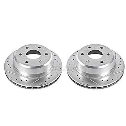 Image of Power Stop AR8645XPR Rear Evolution Drilled & Slotted Rotor Pair Brake System