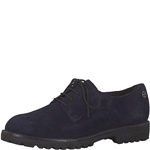 Suede Tamaris de Cordones 21 Zapatos para Lisa Mujer Piel 23725 Navy de twZrw