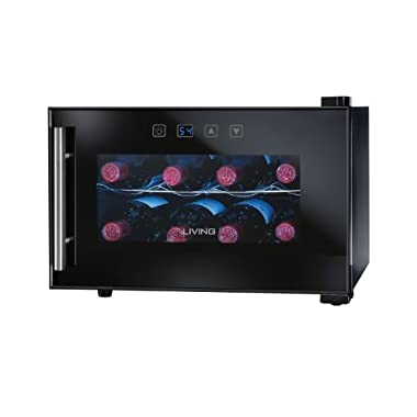 Nostalgia Electrics EWC008BLK 8-Bottle Wine Chiller