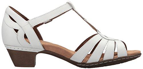 Cobb Abbott Sandalo Curve Donna Bianca Pelle T Nera Collina In rIxFfr