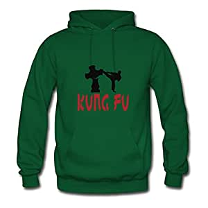 X-large Unofficial Green Hoody For Women Cotton Popular Martial Arts