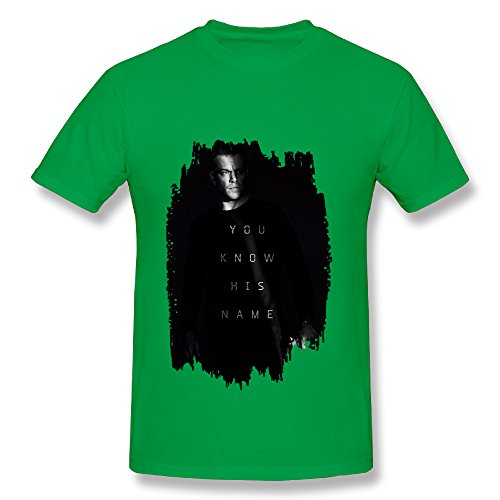 Bourne 5 Jason Bourne Action Spy Thriller Film KellyGreen T Shirt For Men