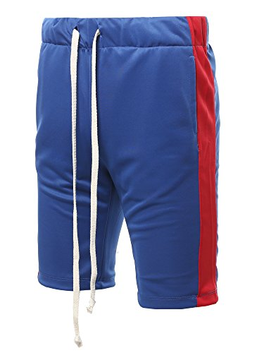 Style by William Mens Casual Active Sports Side Pockets Short Pants Jersey T-Shirt
