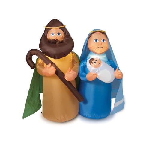 Outdoor Lighted Nativity Scene Holy Family Set - 6