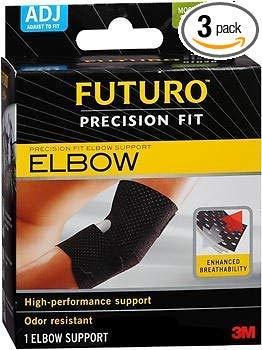 (Futuro Precision Fit Elbow Support Adjust to Fit - Each, Pack of 3)