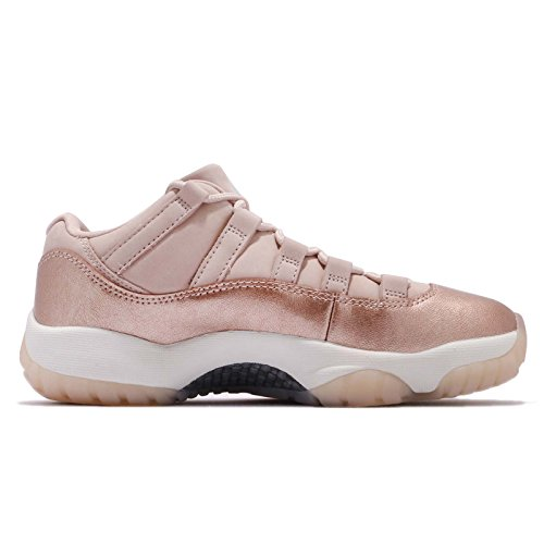 Jordan Nike Women's Air 11 Low GG, Sail/Medium Gum Brown-Metallic Red Bronze, 6.5 M US