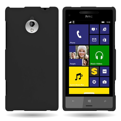 Hard Rubberized Phone (HTC 8XT Phone Case, CoverON® [Snap Fit Series] Hard Rubberized Slim Protective Phone Cover Case for HTC 8XT -)
