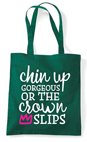 Chin Crown Or The Gorgeous Shopper Tote Dark Up Green Slips Bag PIxnrqIw