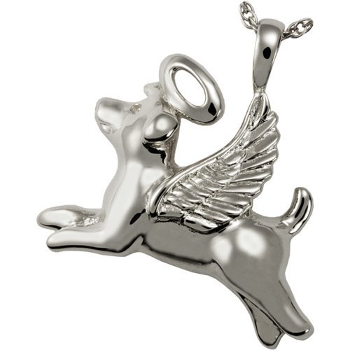 Memorial Gallery Pets 3192s Angel Dog Sterling Silver Cremation Pet Jewelry