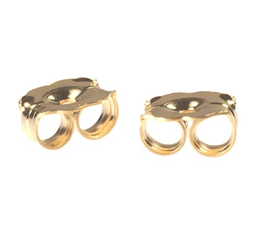 14K Solid Gold Earring Backs Heavy 5mm 1 Pair