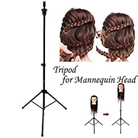 55″ Adjustable Tripod Stand Salon Hair Cosmetology Mannequin Training Holder Top (Mannequin Training Holder)