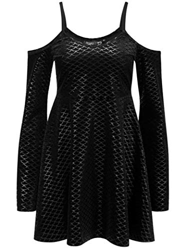 Dress Sorcerers Black Kleid Schwarz Sea Killstar pF71W