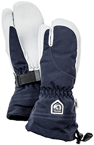 Hestra Women's Leather Heli Ski and Cold Weather 3 Finger Gloves Unisex