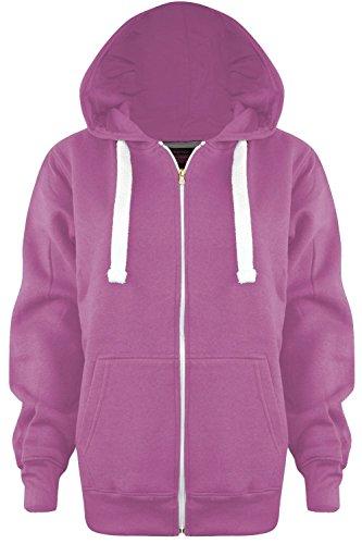 S A Fashions - Sudadera con capucha - Capucha - Manga Larga - para mujer rosa pastel