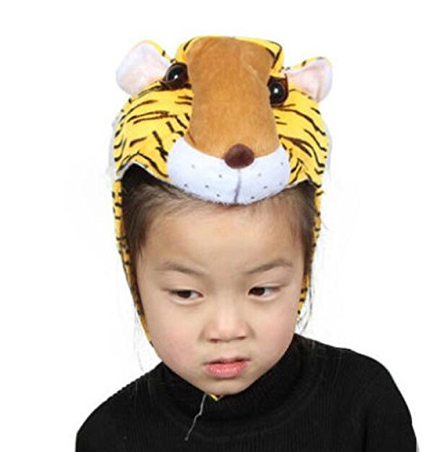 Goodscene Party decoration accessories Cute Kids Performance Accessories Cartoon Animal Hat (Tiger) by Goodscene