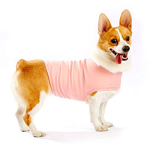 (Furubaby Anxiety Dog Coat a Shirt Calm Down Dog Jacket for xs Small Medium Large XL Dogs | Solid Color Blue Gray Green Pink Thunder Dog Wrap(Pink))