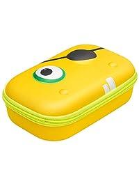 "Zipit ZBB-YW Pencil/Storage Beast Box, Hard Shell, 8.2"" x 5"" x 3.15"", Monster Face, Yellow"