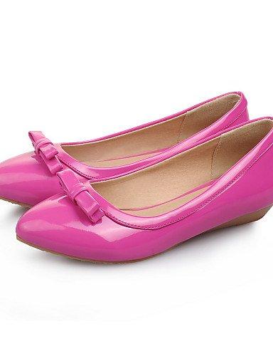 punta negro zapatos us6 eu37 cn37 PDX de 5 Soporte y Toe casual 7 vestido blanco 5 de 5 talón Toe Flats carrera la verde rosa coral cerrado oficina uk4 white mujer 0wqTwg