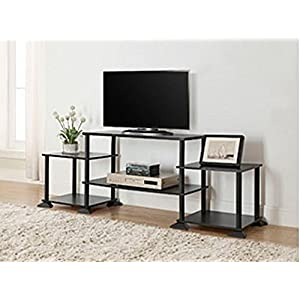"3-cube Media Entertainment Center for Tvs up to 40"" Plasma Television Cabinets Flat Screen Stand Stands Storage Organizer Home Living Room Furniture Black Sale Modern"