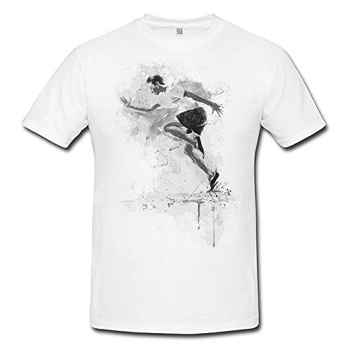 Running I T-Shirt Herren, weiß mit Aufdruck