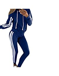 STORTO Women 2 Piece Outfits Adjustable Drawstring Sweatshirt and Pants Sweatsuits Set Tracksuits