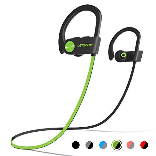 LETSCOM Bluetooth Headphones IPX7 Waterproof