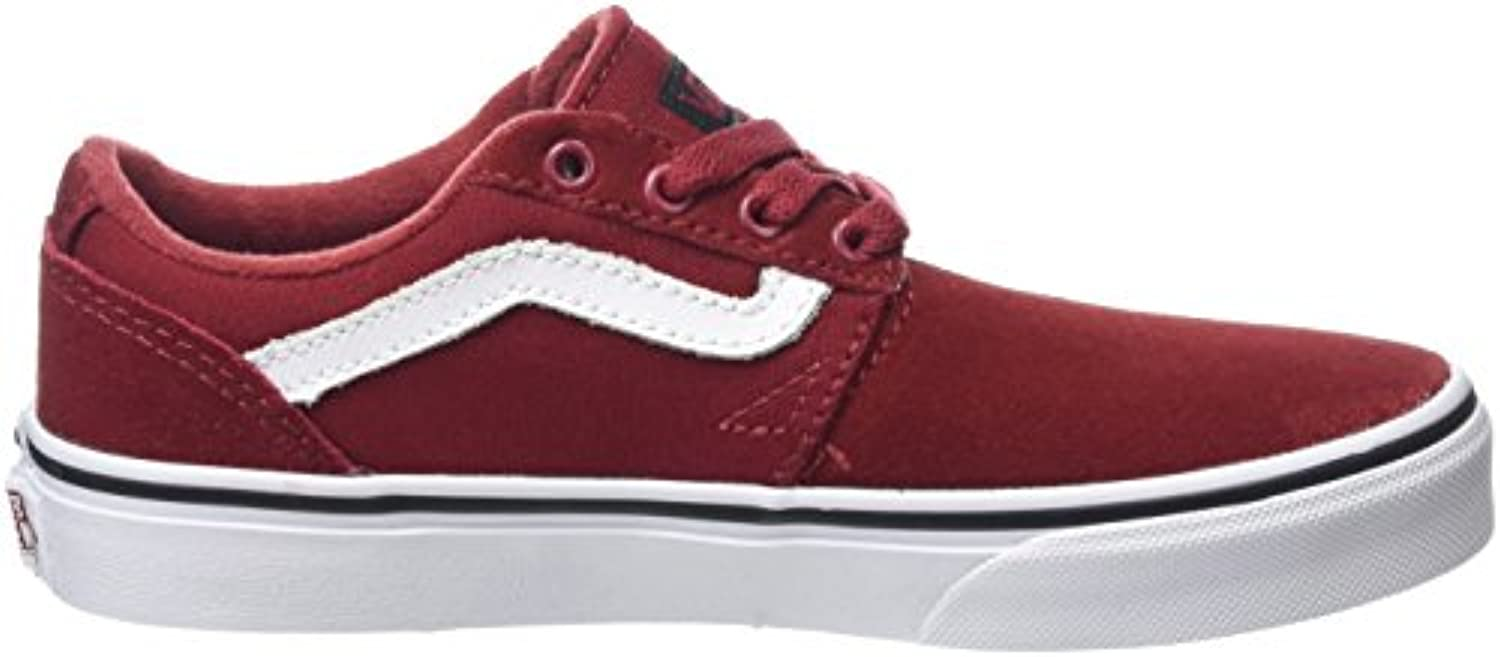 Vans Unisex Kids' Chapman Stripe Low-Top Sneakers, Red (Varsity Red/Black), 1 UK