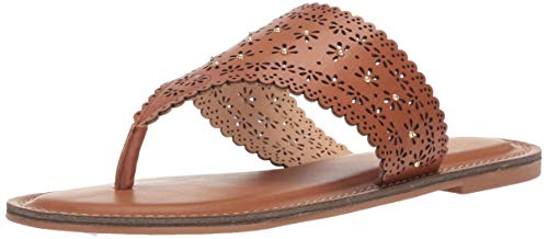 Flat Tan Thong Women Sandals - XOXO Women's Rhonda Flat Sandal Tan 10 M US